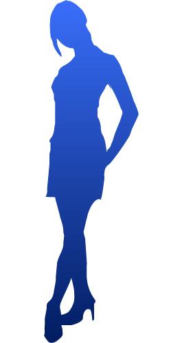 シルエット女性